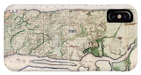 New York City Topography Phone Case by Library Of Congress, Geography And Map Division