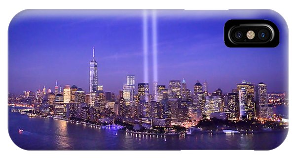 New York City Tribute In Lights World Trade Center Wtc Manhattan Nyc IPhone Case