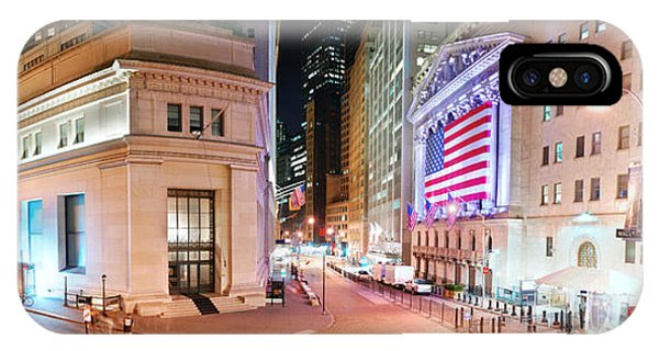 New York City Wall Street Panorama IPhone Case