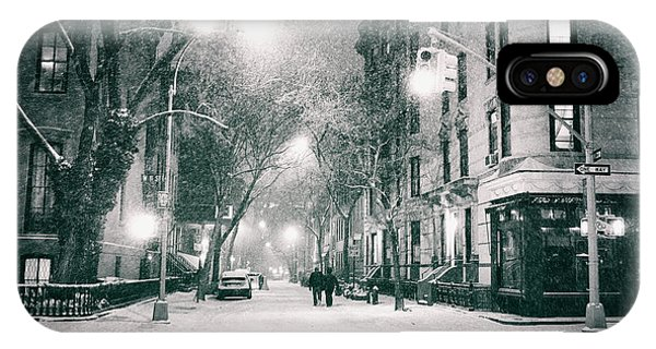 New York City - Winter Night In The West Village IPhone Case