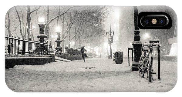 New York City Winter Night IPhone Case