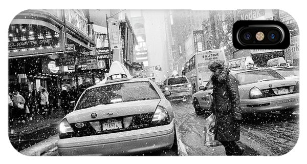 Weathered iPhone Case - New York In Blizzard by Martin Froyda