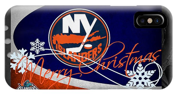 Islanders iPhone Case - New York Islanders Christmas by Joe Hamilton