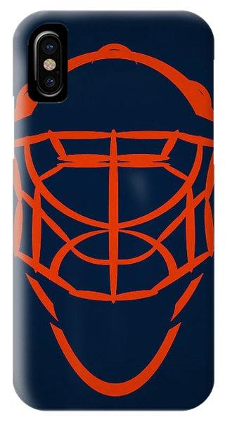 Islanders iPhone Case - New York Islanders Goalie Mask by Joe Hamilton