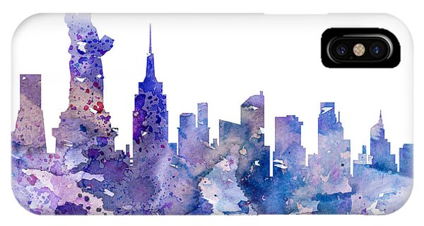 Statue Of Liberty iPhone Case - New York by Watercolor Girl
