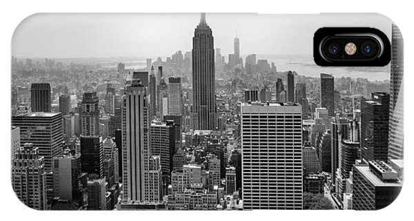 Building iPhone Case - New York Moody Skyline  by Az Jackson
