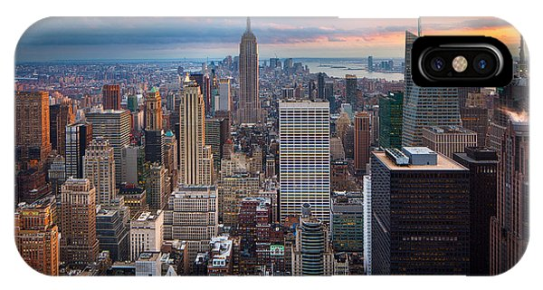 Downtown iPhone Case - New York New York by Inge Johnsson