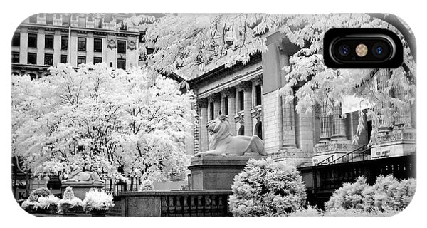 New York Public Library Ir IPhone Case