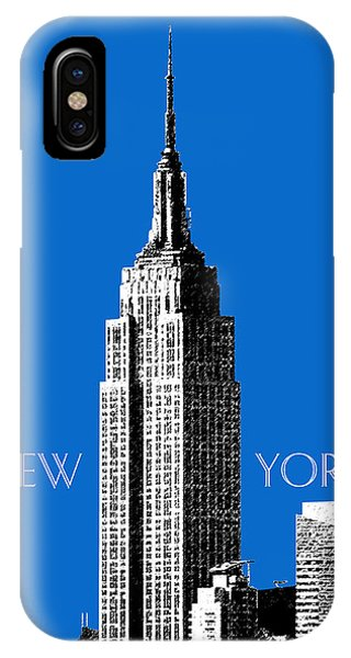Empire State Building iPhone Case - New York Skyline Empire State Building - Blue by DB Artist
