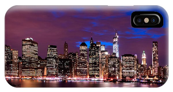 New York Skyline Magic Hour-- From Brooklyn Heights Promenade IPhone Case