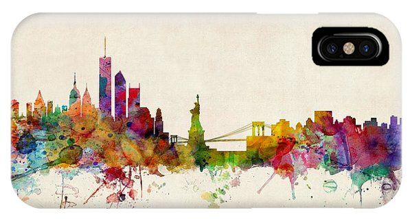 United States iPhone Case - New York Skyline by Michael Tompsett