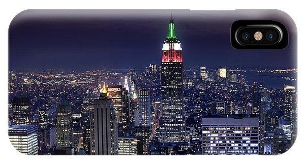 New York Skyline Night Color IPhone Case