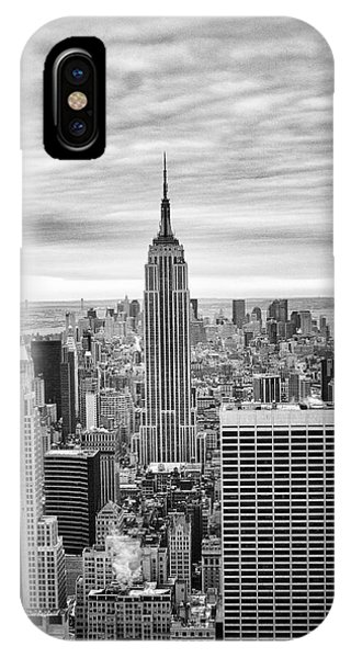 Black And White Photo Of New York Skyline IPhone Case