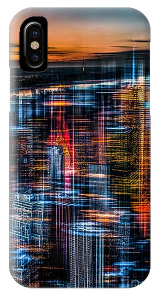 New York- The Night Awakes - Orange IPhone Case