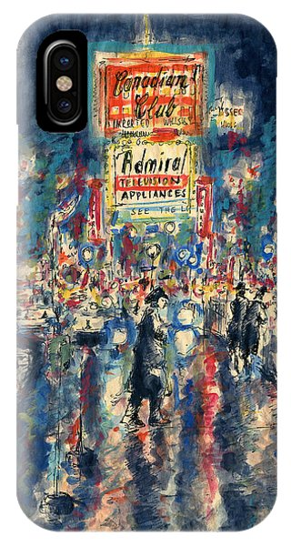New York Times Square 79 - Watercolor Art Painting IPhone Case
