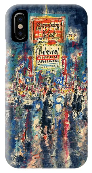 New York Times Square - Watercolor IPhone Case