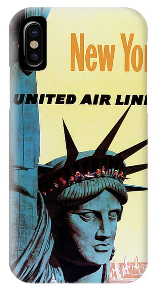 New York City iPhone Case - New York United Airlines by Mark Rogan