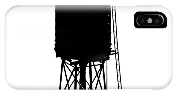 New York Water Tower 17 - Silhouette - Urban Icon IPhone Case
