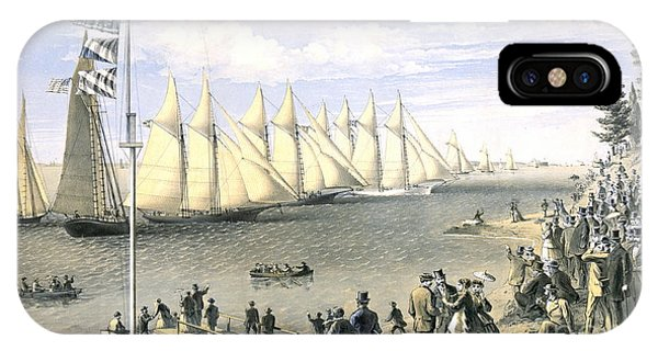 New York Yacht Club Regatta 1869 IPhone Case