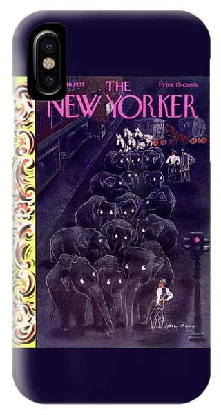 Representation iPhone Case - New Yorker April 10 1937 by Harry Brown