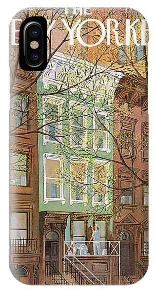 Brownstone iPhone Case - New Yorker April 12th, 1969 by Charles E Martin
