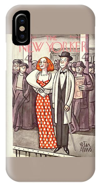 Representation iPhone Case - New Yorker April 24th, 1937 by Peter Arno