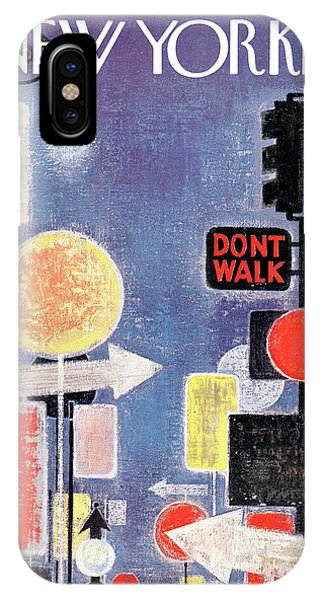 Street Sign iPhone Case - New Yorker April 8th, 1961 by Kenneth Mahood