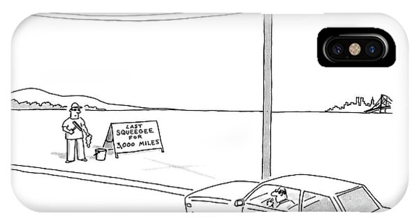 Highway iPhone Case - New Yorker August 11th, 1986 by Jack Ziegler