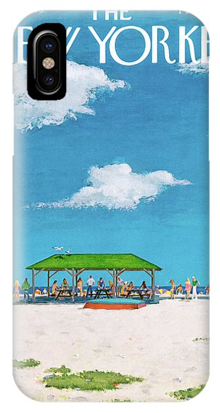 Long Beach Island iPhone Case - New Yorker August 20th, 1973 by Albert Hubbell