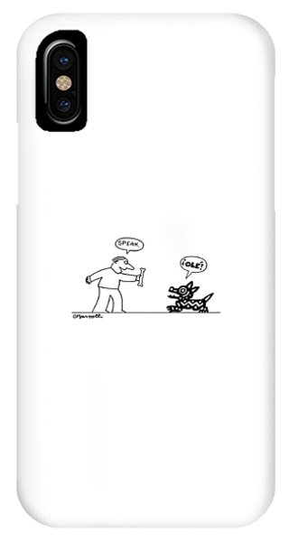 Bone iPhone Case - New Yorker August 24th, 1987 by Charles Barsotti