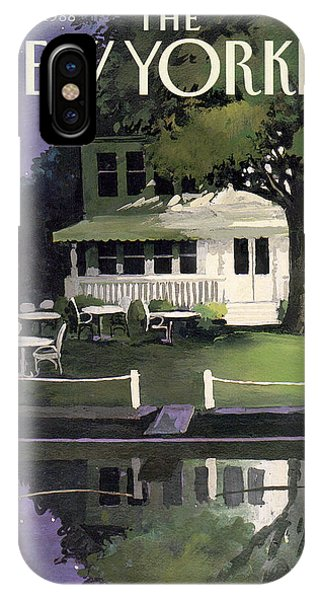 Relaxation iPhone Case - New Yorker August 29th, 1988 by Arthur Getz