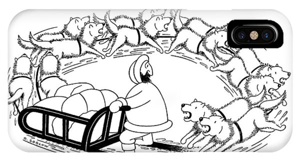 Sled Dog iPhone Case - New Yorker December 12th, 1959 by Otto Soglow