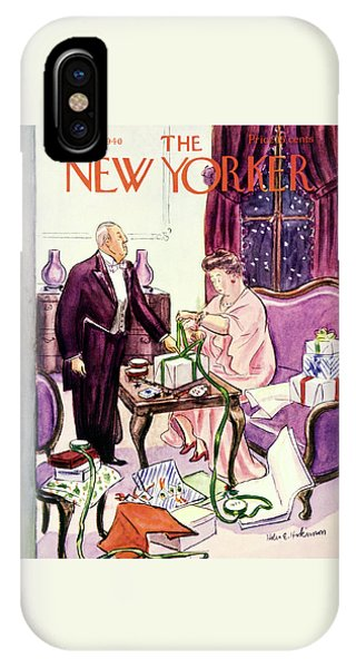 Representation iPhone Case - New Yorker December 14 1940 by Helene E. Hokinson