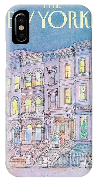 Brownstone iPhone Case - New Yorker December 17th, 1984 by Iris VanRynbach