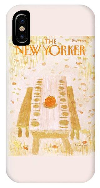 The Nature Center iPhone Case - New Yorker December 1st, 1980 by James Stevenson