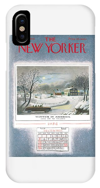 New Yorker December 25th, 1954 IPhone Case