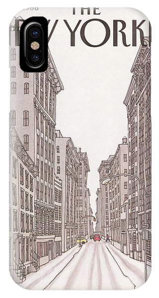 New Yorker February 10th, 1986 IPhone X Case