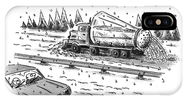 Highway iPhone Case - New Yorker February 22nd, 1999 by Christopher Weyant