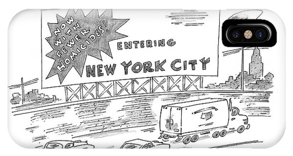 Highway iPhone Case - New Yorker February 24th, 1997 by Michael Maslin
