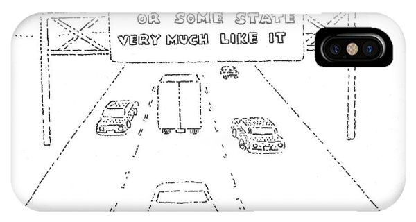 Highway iPhone Case - New Yorker February 26th, 1979 by Robert Mankoff