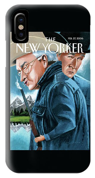 Dick Cheney iPhone Case - New Yorker February 27th, 2006 by Mark Ulriksen