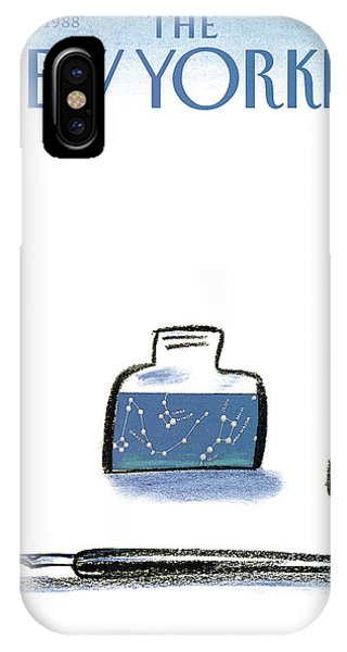 Plumes iPhone Case - New Yorker January 25th, 1988 by Eugene Mihaesco