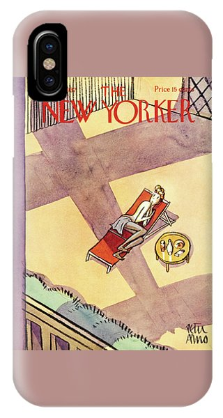 Magazine Cover iPhone Case - New Yorker July 10 1937 by Peter Arno