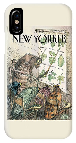 Cricket iPhone Case - New Yorker July 10th, 2000 by Edward Sorel