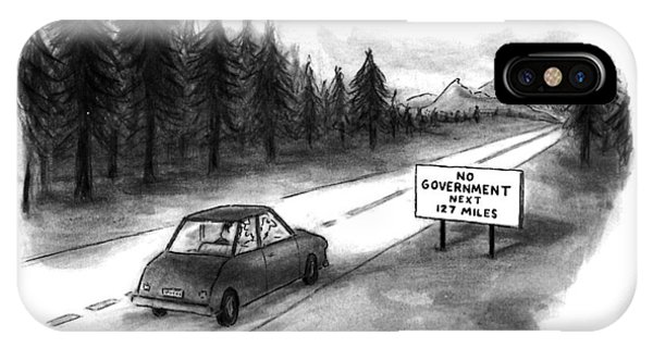Highway iPhone Case - New Yorker July 29th, 1996 by Sam Gross
