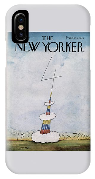 Fireworks iPhone Case - New Yorker July 5th, 1969 by Saul Steinberg