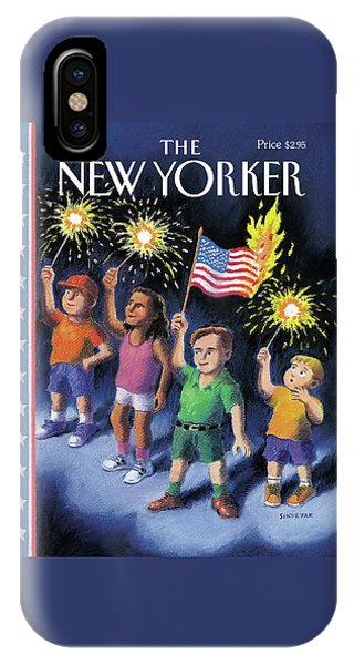 July 4 iPhone Case - New Yorker July 7th, 1997 by R Sikoryak