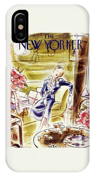 Representation iPhone Case - New Yorker June 25 1938 by Leonard Dove