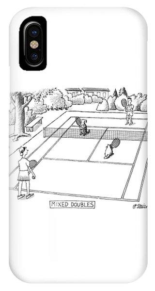Tennis iPhone Case - New Yorker June 3rd, 1991 by Peter Steiner