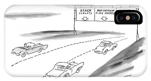 Highway iPhone Case - New Yorker June 7th, 1999 by Peter Porges